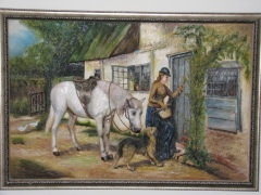 Lady and Horse with Clay & Oils