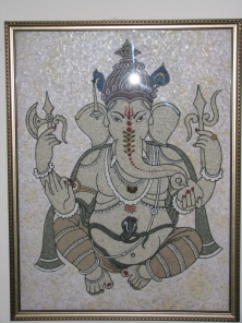 Lord Ganesh with Marble Chips