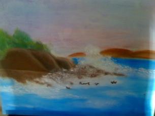 Sea Scape-Niharika -Pastels