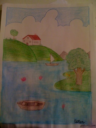 Scenery with Watercolor by Nithin Lankepalli