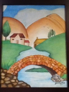 Landscape using water colors by Neha P