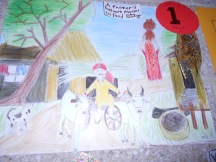 Village Life(Farmers Help to give us Food) by Nanda(1st Prize Winner)