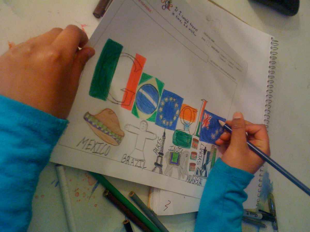I'd visit famous places around the continents when I grow up- Anoushka(3rd grade)-In progress