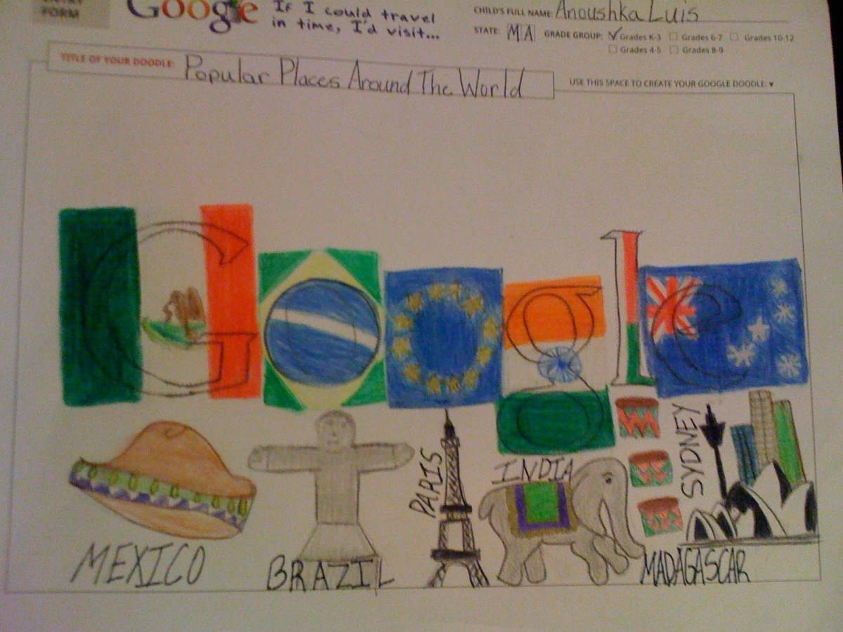 I'd visit famous places around the continents when I grow up- Anoushka(3rd grade)