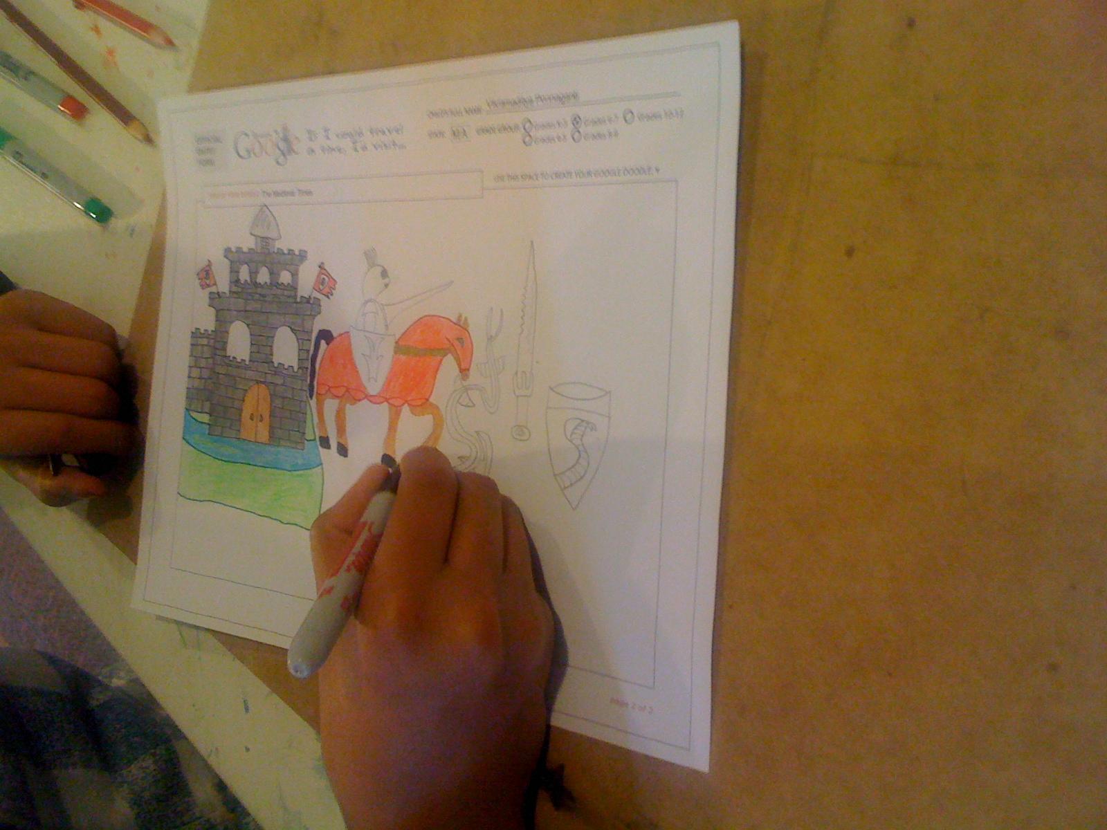 I'd Visit 'Medevial Times' - Vikramaditya Ponnaganti(7th Grade)-In Progress