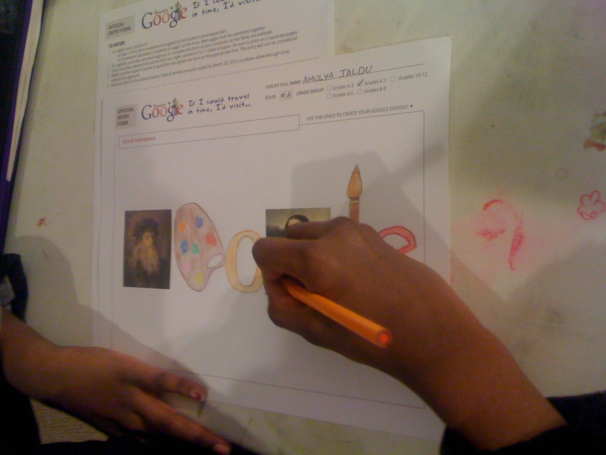 I'd Visit 'Leonardo Da Vinchi' -Amulya Jaldu(6th Grade)- In Progress