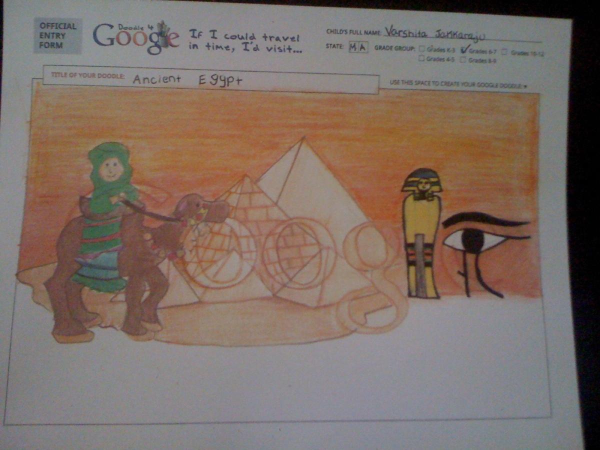'Id Visit 'Ancient Egypt'- Varshita Jakkaraju-6th Grade